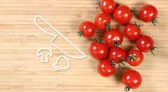 How to halve cherry tomatoes easily