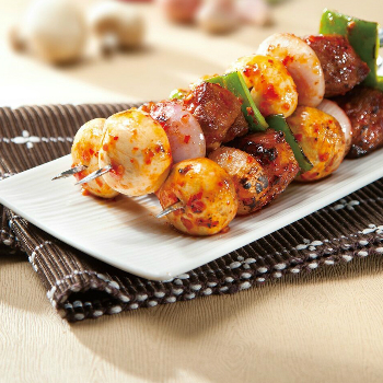 Recipe Honey Oyster BBQ Pork Skewers