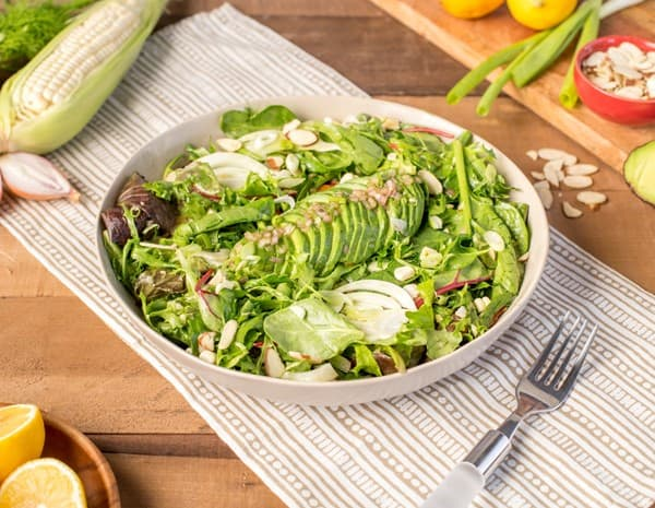 California Salad with Oyster Sauce Vinaigrette